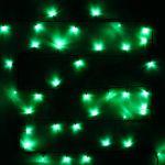"""Влагозащищенная светодиодная гирлянда-нить """"Твинкл"""" 15м с динамикой Зеленая"""