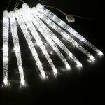Невлагозащищенная светодиодная гирлянда Тающие сосульки 8шт по 50см Белый
