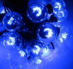 Влагозащищенная гирлянда Белт-лайт на черном проводе со светодиодными Цветными лампами