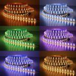 Яркая светодиодная лента повышенной мощности SMD5050 120Led 28.8W RGB+Холодный белый