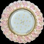 Потолочный декоративный светильник GX53 c хрусталиками