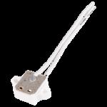Патрон G4 керамический с проводами и ушками для креплания