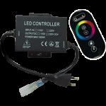 Контроллер для ленты 220V RGB с Радио пультом 1500Вт