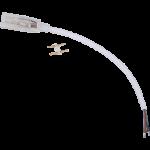 Кабель питания с муфтой и разъемом 2-х контактный для ленты 14x7мм 220V