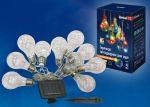 """Гирлянда на солнечной батарее """"Лампочки"""" 4м 10 ламп RGB"""