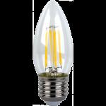 Светодиодная филаментная (нитевидная) лампа свеча Е27 6Вт Premium