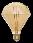 Ретро лампа LOFT светодиодная Gold Алмаз 10Вт