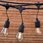 """Влагозащищенная гирлянда """"Ретро со свисанием"""" со светодиодными лампами"""