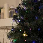 Гирлянда Сетка на елку с кольцом, диаметр 1,5м