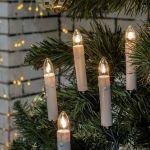 Светодиодная гирлянда Свечи на елку на прищепках 8м 20Led
