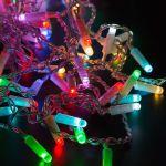 """Влагозащищенная Светодиодная гирлянда-нить """"Твинкл"""" 10м RGB (управляемая дистанционным пультом)"""