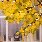 """Светодиодное дерево  """"Клен Осенний"""" 3м Желтый"""