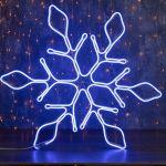 """Светодиодная фигура из неона """"Снежинка"""" 0,67х0,67м"""