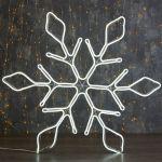 """Светодиодная фигура из неона """"Снежинка"""" 67 см"""