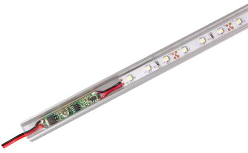 Микро Диммер с подсветкой (встраиваемый в профиль для ленты) Premium