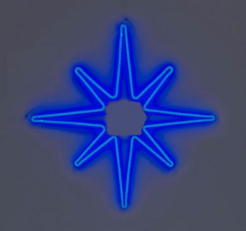 """Светодиодная фигура из неона """"Полярная звезда"""" 0,75х0,75 м Синяя"""