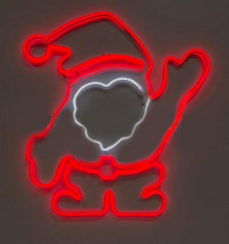 """Светодиодная фигура из неона """"Дед Мороз"""" 0,85х0,9м"""