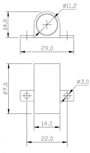 Держатель для датчика накладной (15мм)