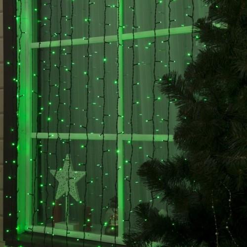Влагозащищенная Гирлянда Занавес с мерцанием 2х6м IP44