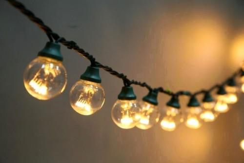 Влагозащищенная Ретро гирлянда на витом проводе 10м 50Led ламп
