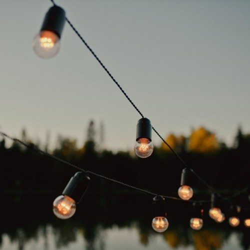 Ретро гирлянда для помещения 15м (с led лампами)