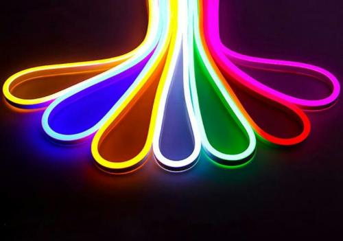 Гибкий светодиодный неон 220V 8х16мм 1м