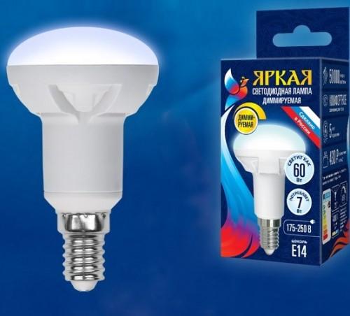 Диммируемая светодиодная лампа R50 E14 7W