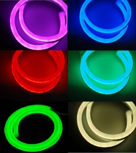 Гибкий светодиодный неон RGB 18х21мм 1м