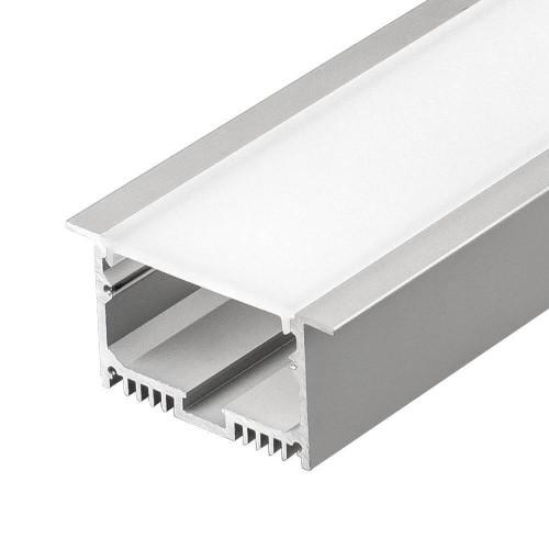 Алюминиевый встраиваемый профиль (ширина 50мм высота 35мм) с рассеивателем