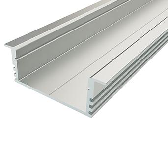 Алюминиевый встраиваемый профиль (ширина 88мм высота 32мм) с рассеивателем
