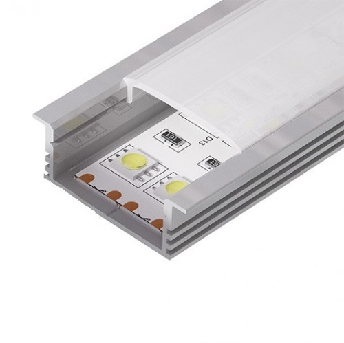 Алюминиевый встраиваемый профиль (ширина 34мм высота 12мм) с рассеивателем