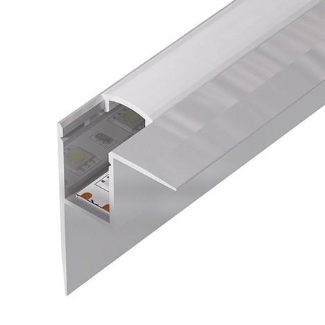 Алюминиевый встраиваемый профиль (ширина 32мм высота 45мм) с рассеивателем