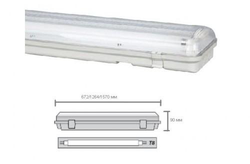 Пылевлагозащищенный светильник для люминесцентных ламп