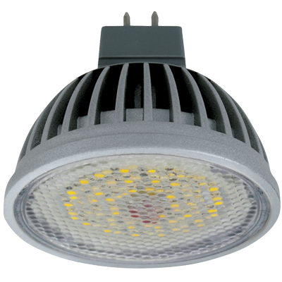 Светодиодная лампа MR16 Gu5.3 (алюм. радиатор) 5.4Вт