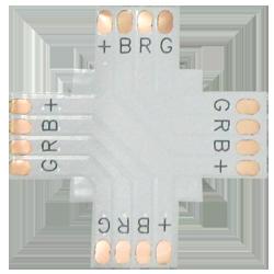 Гибкая соединительная плата Х-образная для ленты RGB