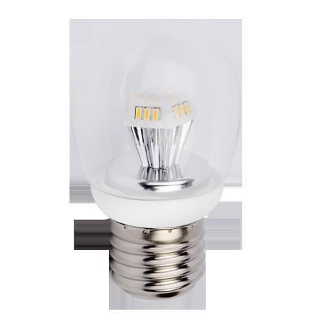 """Светодиодная лампа """"полуматовый шар"""" 4.2Вт"""