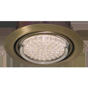 Встраиваемый поворотный потолочный светильник GX53
