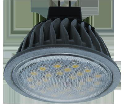 Светодиодная лампа MR16 Gu5.3 (алюм. радиатор) 7Вт