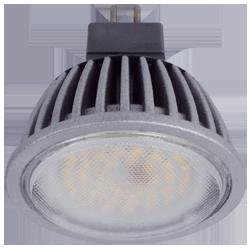Светодиодная лампа MR16 Gu5.3 (алюм. радиатор) 7Вт Premium