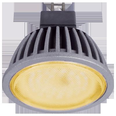 Светодиодная лампа MR16 прозрачное стекло Золотистая 5.4Вт