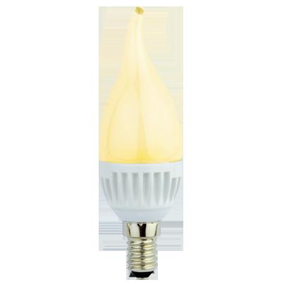 """Светодиодная лампа """"Свеча на ветру"""" Золотистая 4.4Вт"""