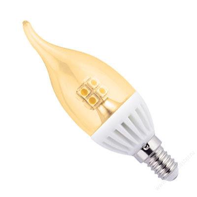 """Светодиодная лампа """"Свеча на ветру"""" прозрачная Золотистая"""
