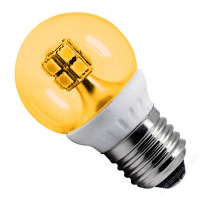 Светодиодная лампа-шар G45 Золотистая 4Вт