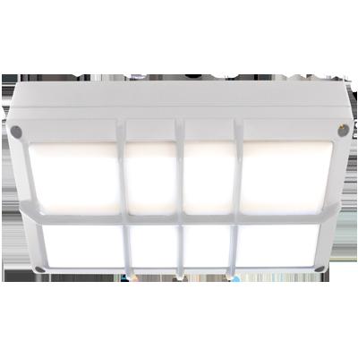 Светодиодный влагозащищенный светильник Прямоугольник с решеткой