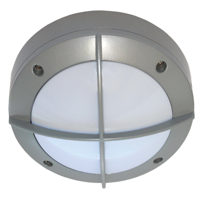 Светодиодный влагозащищенный светильник Круг с решеткой