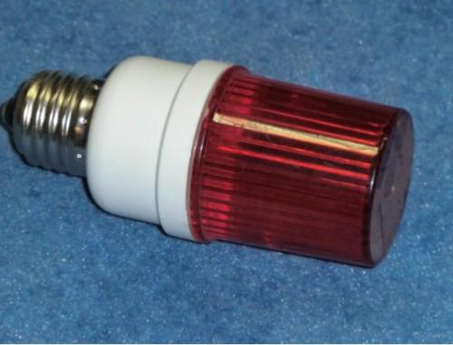 Строб лампа ксеноновая с цоколем Е27 Красный