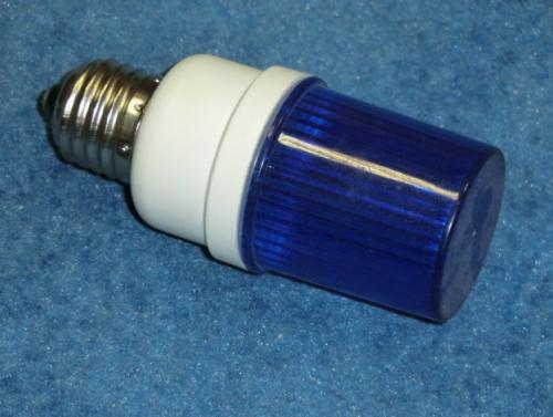 Строб лампа ксеноновая с цоколем Е27 Синий