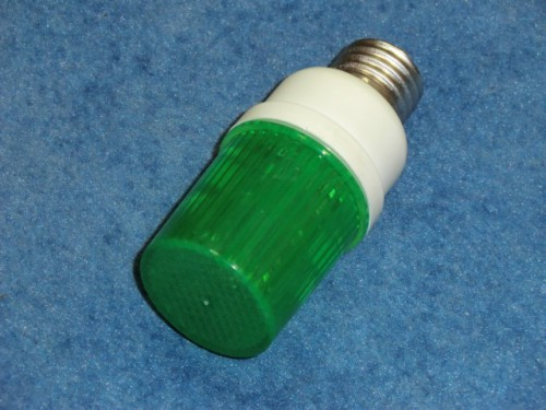 Строб лампа ксеноновая с цоколем Е27 Зеленый