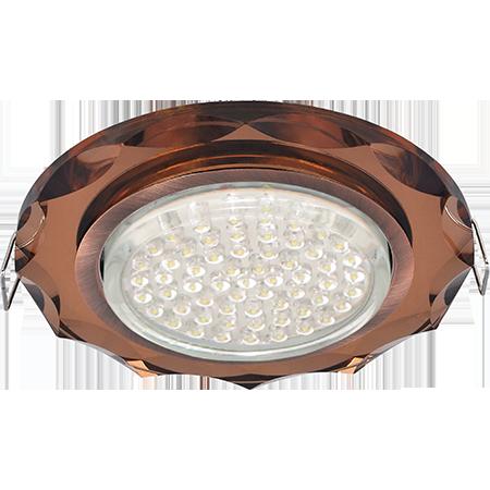 """Потолочный декоративный светильник GX53 """"Круг с вогнутыми гранями"""""""