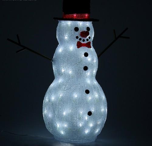 """Светодиодная фигура из акрила """"Снеговик"""" 59см"""